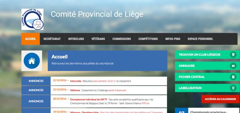 Comité Provincial de Liège – Tennis de Table